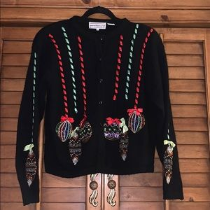 Vintage Ugly Blinged Christmas Sweater